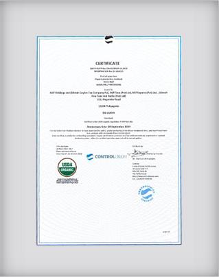 Organic Certification to USDA AMS 7 CFR part 205 National Organic Program