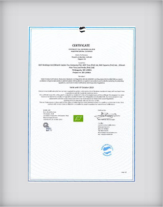 Organic Certification to Regulation (EC) No 834/2007 and Regulation (EC) No 889/2008